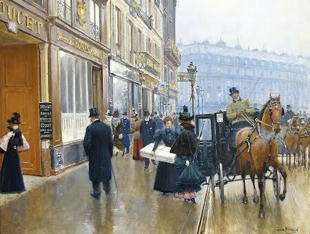 Jean-Georges Beraud (French, 1849-1936)  «La Devanture du Couturier Doucet»