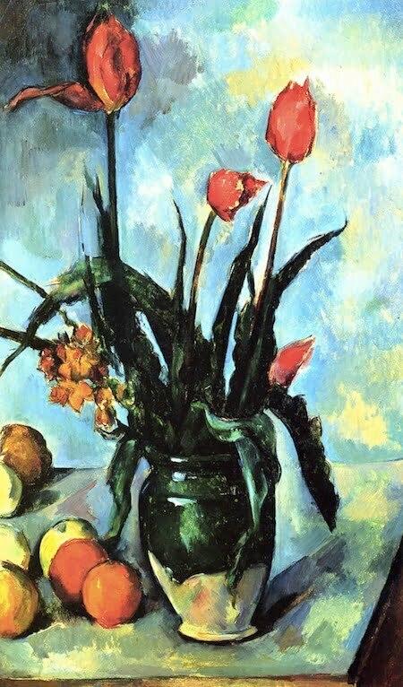 Paul Cezanne - Vaza cu lalale-1892