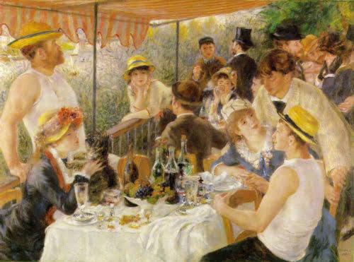 3. Pierre Auguste Renoir - Le dejeuner des canotiers 1881