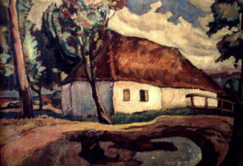 5.Camil Ressu - Peisaj cu casa de tara