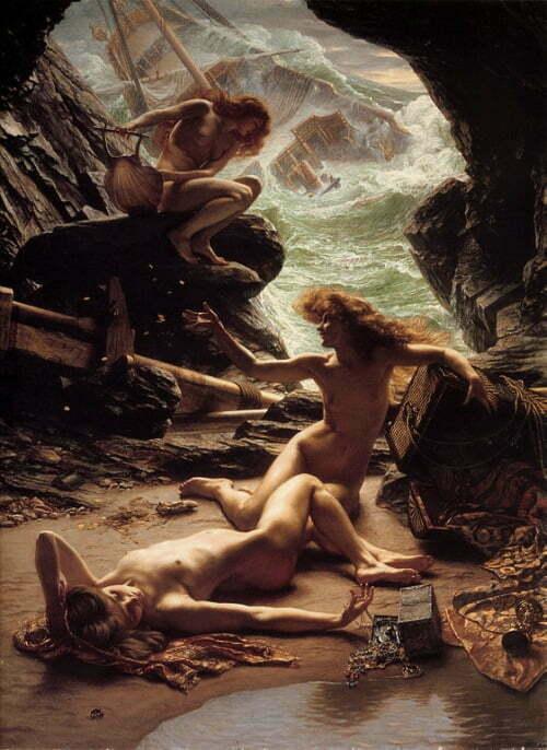 3.Edward Poynter - Cave of the Storm Nymphs