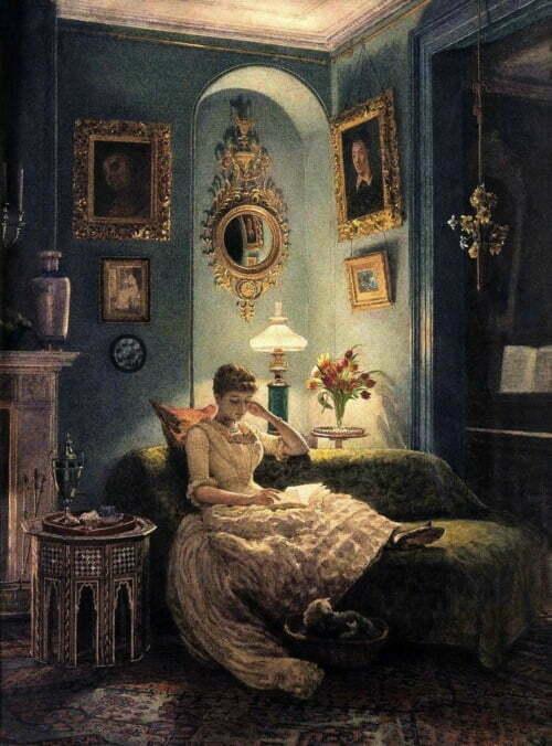 4.Edward Poynter - An Evening at Home