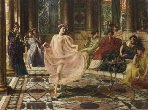 5.Sir Edward John Poynter The Ionian Dance  - Motus doceri gaudet Ionicos, Matura virgo, et fingitur artibus (1895