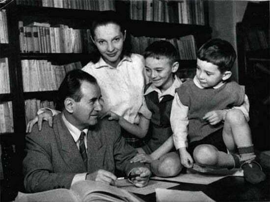 Camil Petrescu și familia