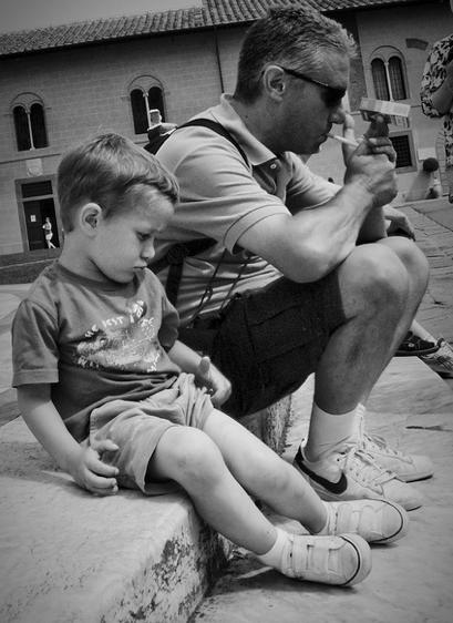 tată și fiu