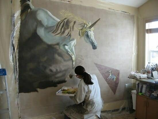 nan-working-on-a-unicorn-painting