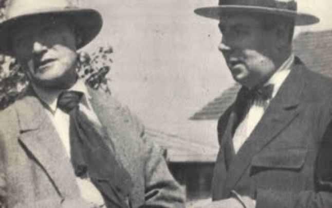 André Gide şi Roger Martin du Gard la Pontigny