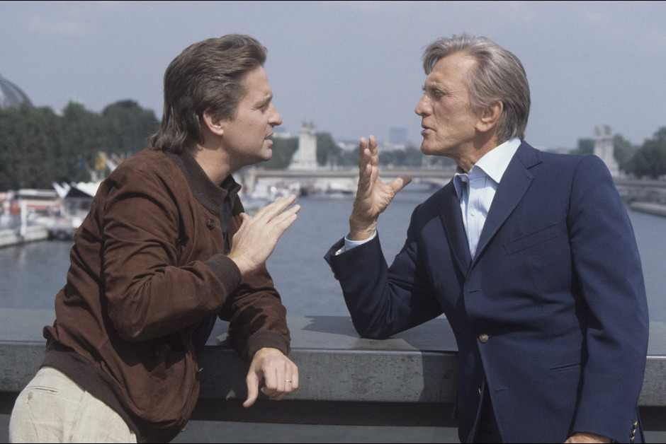 Kirk-et-Michael-Douglas.-1984