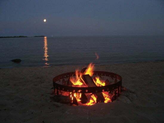 full moon & fire_full