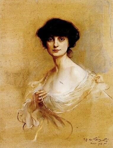 Portrait of Anna, Comtesse de Noailles by Philip de  Lu00E1szlu00F3 (1913)
