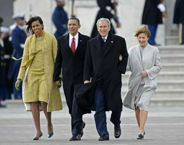 Michelle+Obama+Laura+Bush+Barack+Obama +Sworn+mMHd_Ee-vRwl