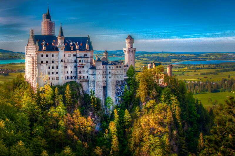 Neuschwanstein-castle-front-view