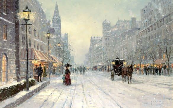 winter-art-painting-city-street-winter-snow-