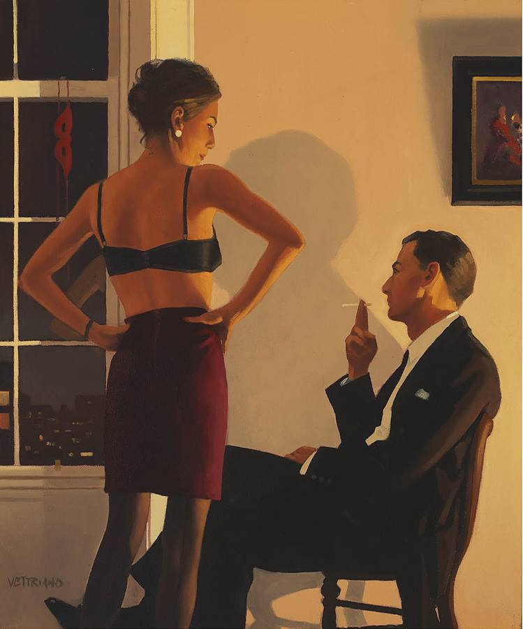 night in the city, erotic work jack Vettriano