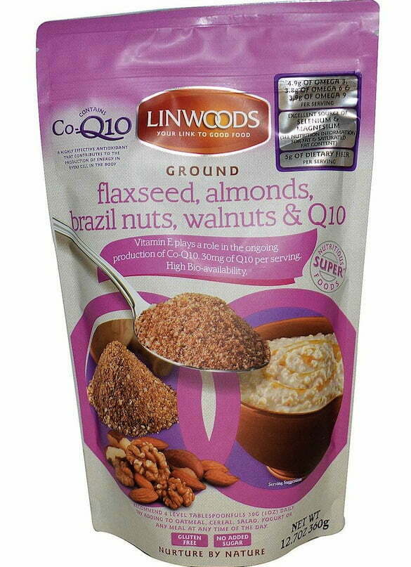 Flaxseed almonds Brazil, nuts and walnuts and co-enzyme Q10