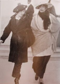 Gabrielle's sister Antoinette & her aunt Adrienne wearing Coco Chanel's clothes as advertizing Street Style - 1910s
