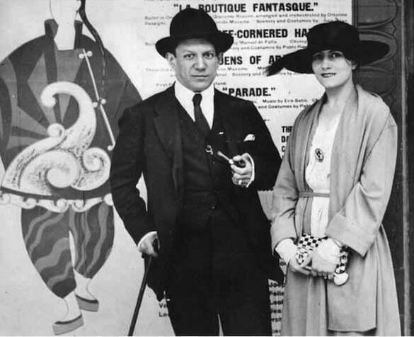 Olga Picasso, îmbrăcată în chanel, 1917