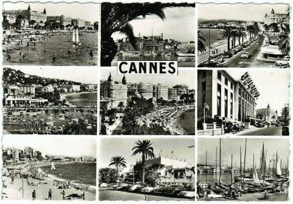 Cannes-1950s-postcard