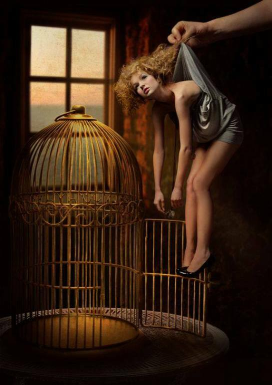 doll in cage