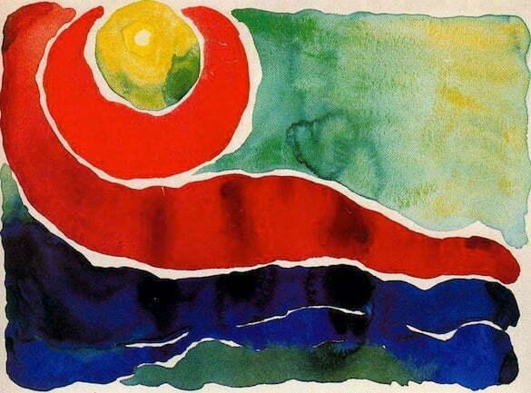 Georgia O'Keeffe - Le stelle ritardano, 1917