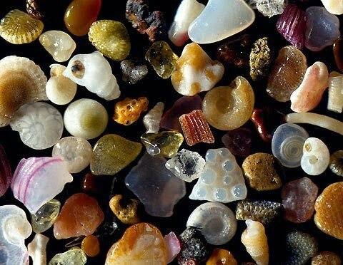 nisip mărit de 250 de ori