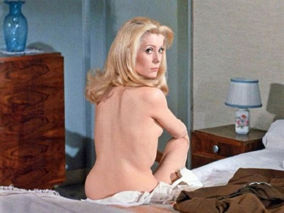 Catherine Deneuve in 'Belle De Jour' in 1967, playing a housewife who secretly worked as a prostitute.