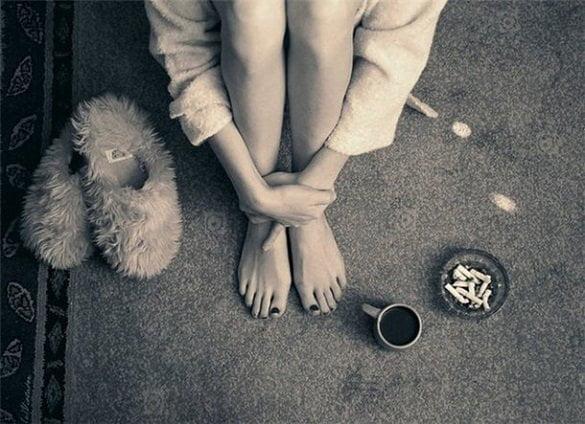 cafea pe jos