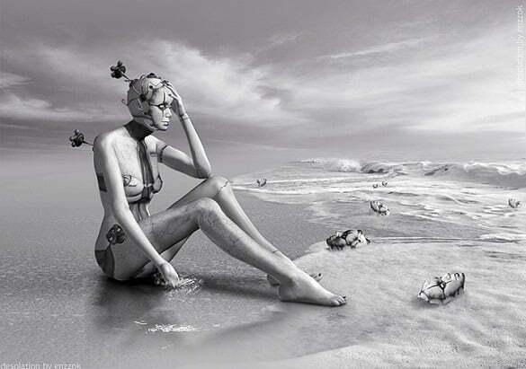 femeie robot