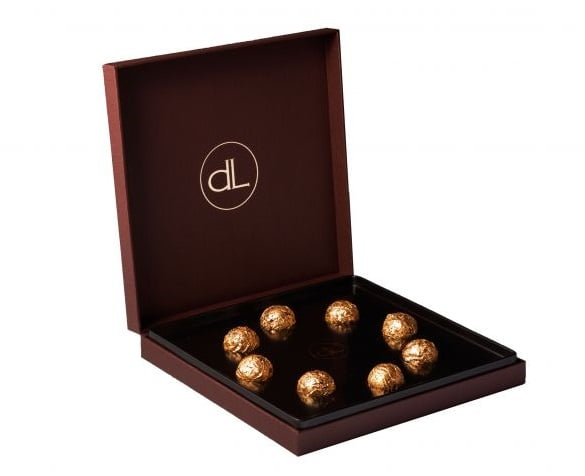 3. DeLafée of Switzerland's Gold Chocolate Box (8 chocolates)