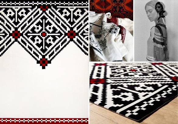 Dare to Rug - covor romanesc cu design contemporan
