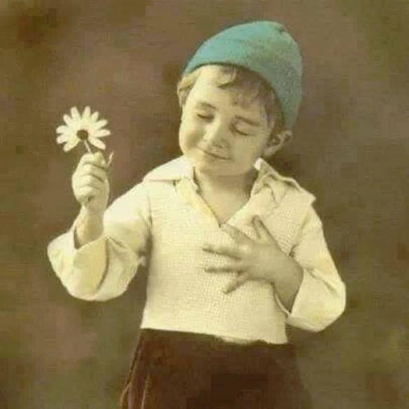 copil floare