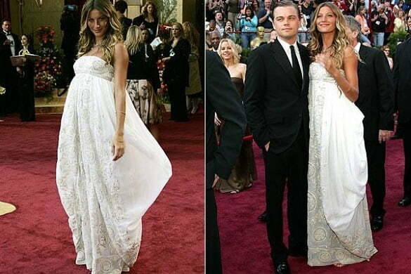 Gisele Bundchen - White Christian Dior strapless dress, Oscars (2005).
