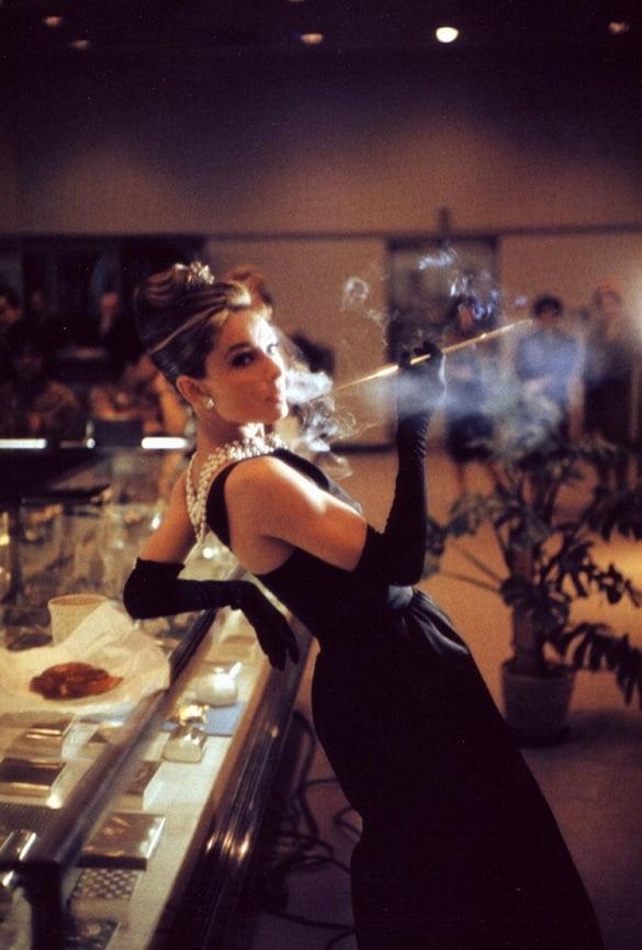 Audrey Hepburn en la rodación de la película «Desayuno con diamantes», 1961.