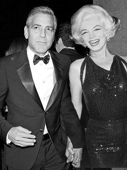 Marilyn Monroe & George Clooney