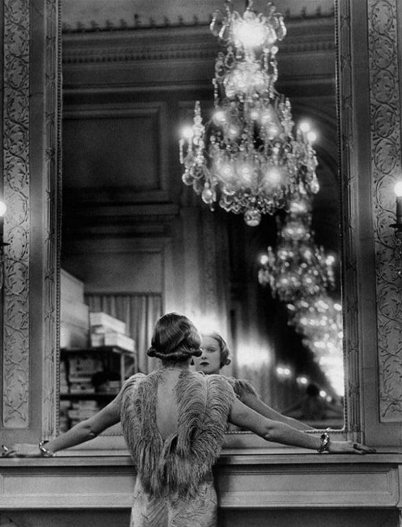 Una actriz frente al espejo, 1934.