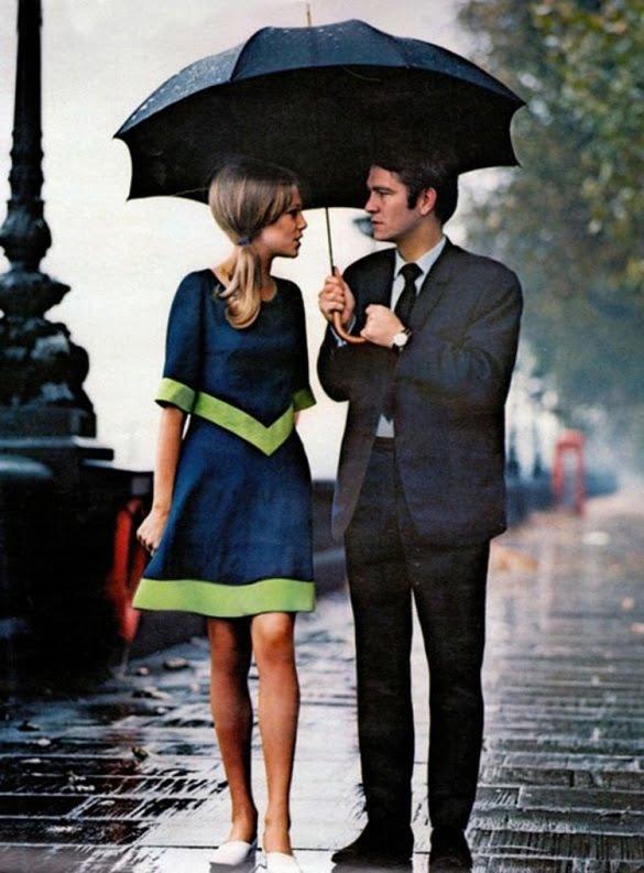 Una cita bajo la lluvia de Lóndres, 1963.