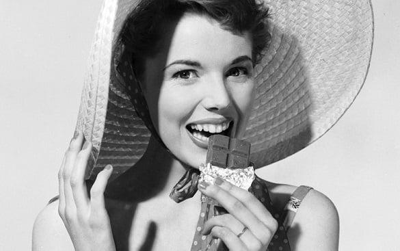 femeie ciocolata