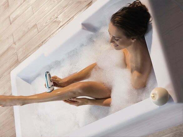 Epilator AquaPerfect Soft - utilizare pe pielea umeda