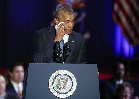 US President Barack Obama delivers his farewell address