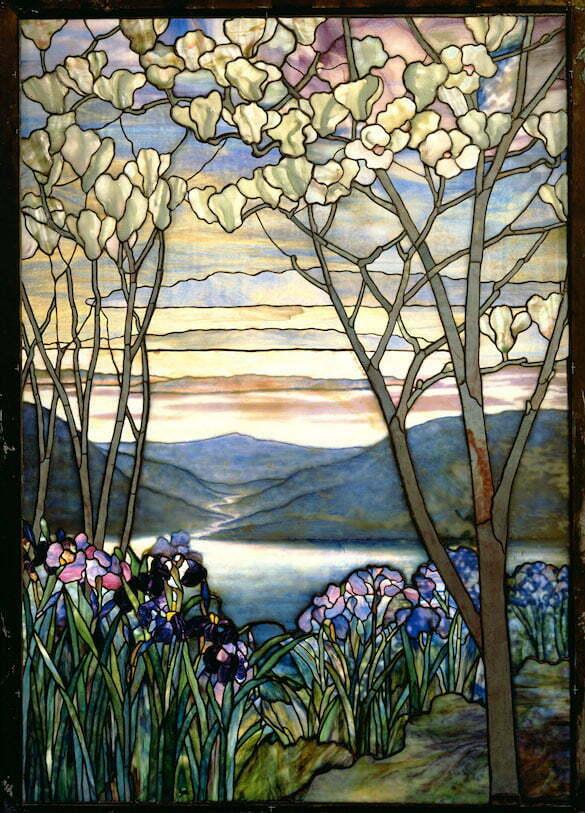 Louis Comfort Tiffany - Magnolii si irisi - 1908