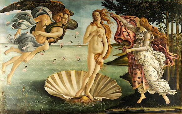 Sandro_Botticelli - Nasterea lui Venus