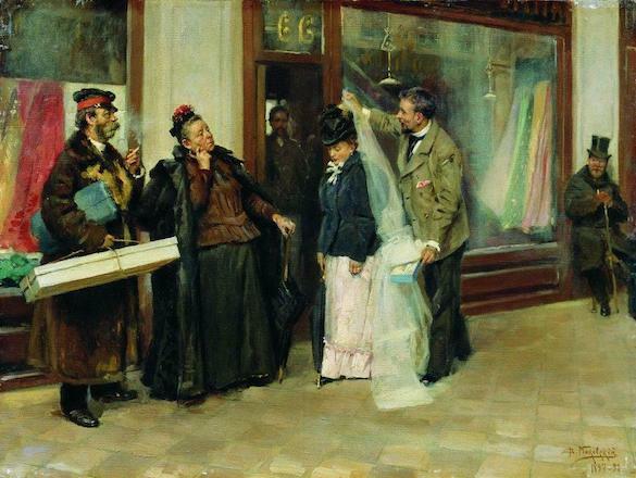 Vladimir Makovsky - Alegerea darurilor de nunta-1898