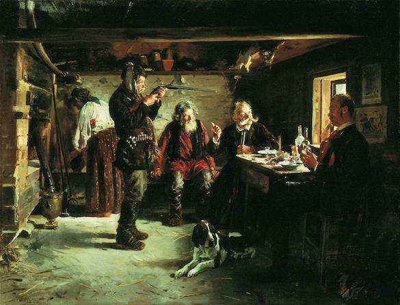 Vladimir-Makovsky - In cabana unui padurar