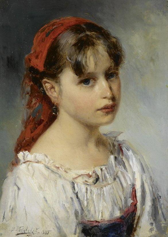 Wladimir Makowski - Portretul unei fete din Italia