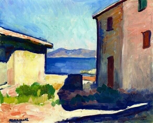 House at Saint-Tropez, 1905 - Albert Marquet (700x565)