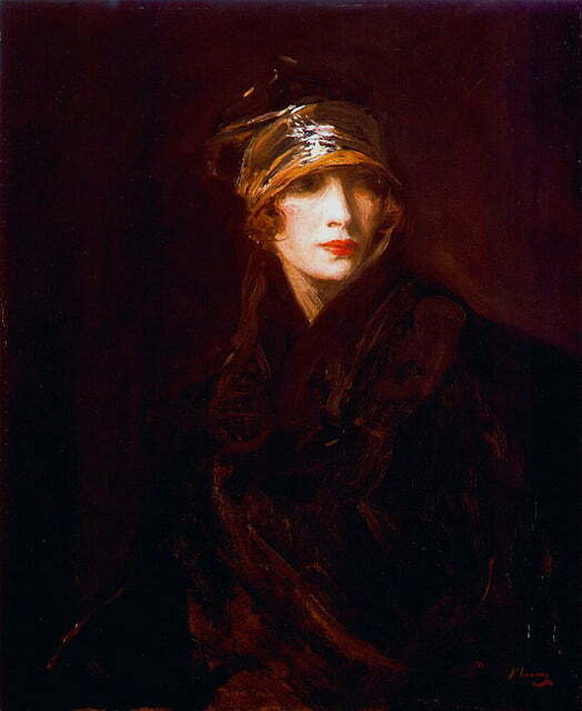 Sir John Lavery - Femeie cu turban auriu