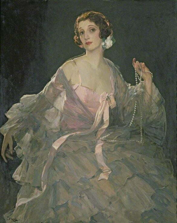Sir John Lavery - Hazel în roz și gri