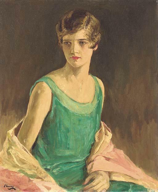 Sir John Lavery - Portretul domnișoarei Harriet Taft Hayward