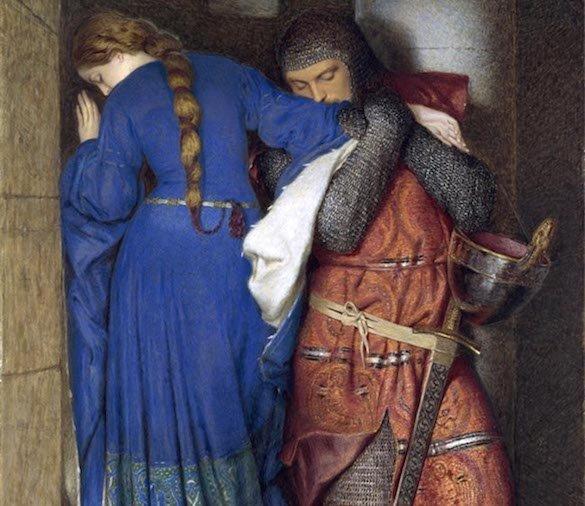 Frederick William Burton - Hellelil si Hildebrand, intalnirea de pe scara turnului