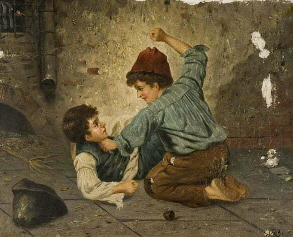 Lodi, Gaetano, 1830-1886; Boys Fighting